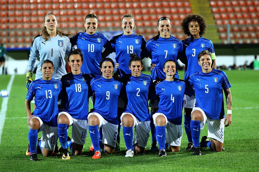 during the 2019 FIFA Women's World Cup Qualifier between Italy Women and Moldova Women at Stadio Alberto Picco on September 15, 2017 in La Spezia, Italy.